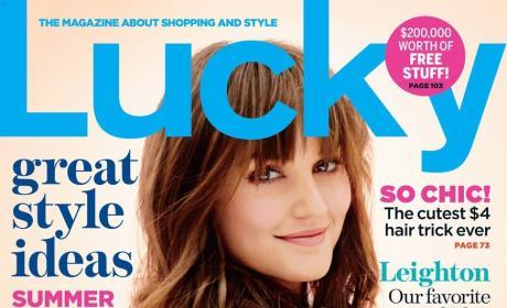 Leighton Meester Lucky Cover