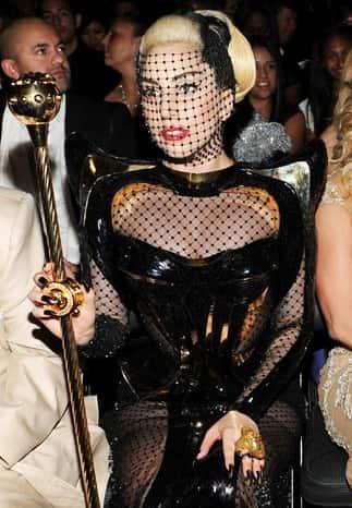 Lady Gaga Fishnet Face
