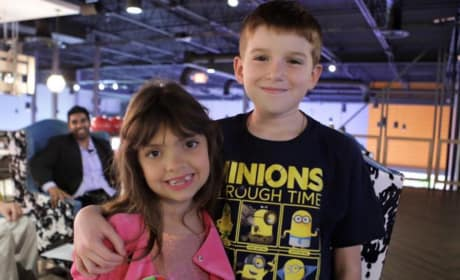 Sophia Abraham and Friend at Her 7th Birthday Party
