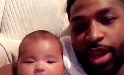 Tristan Thompson Kisses Baby True, Sends Message to Haters