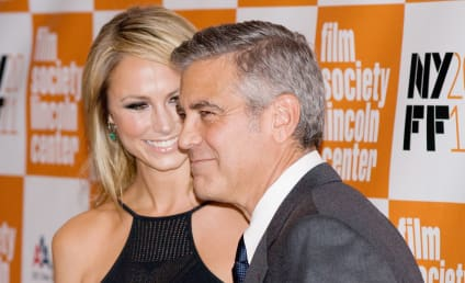 George Clooney and Stacy Keibler Make Red Carpet Debut