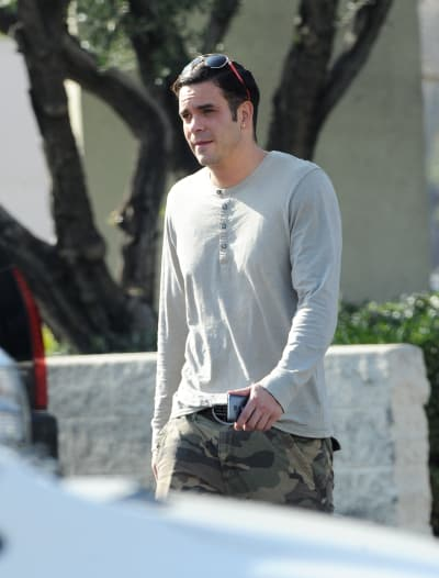 Mark Salling Visits The Bank