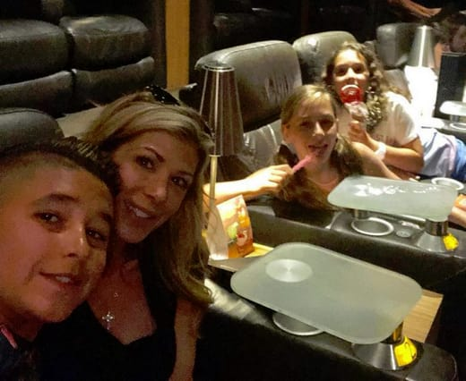 Alexis Bellino and Children at the Movies
