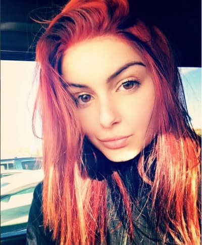 Ariel Winter with red hair