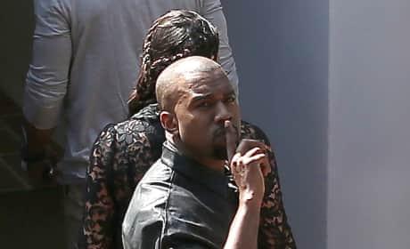 Kanye West Shushes