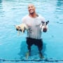 Dwayne Johnson and His Puppies