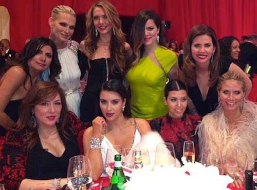 Kim Kardashian Oscar Party Photo