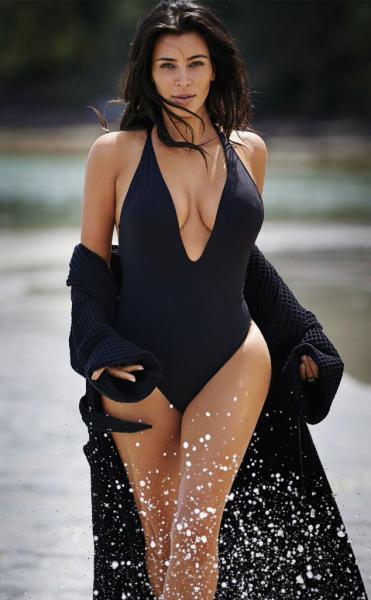 Kim Kardashian in a One-Piece