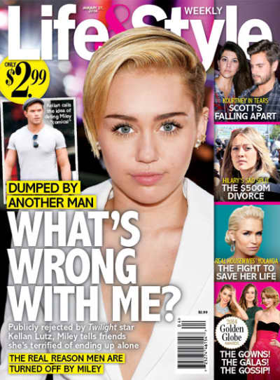 Miley Cyrus Life & Style Cover