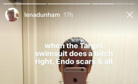 Lena Dunham Bikini Selfie