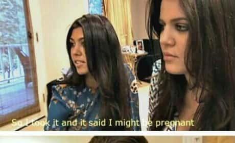 "Scott Disick Reacts To Kourtney Kardashian's ""Maybe"" Pregnancy"