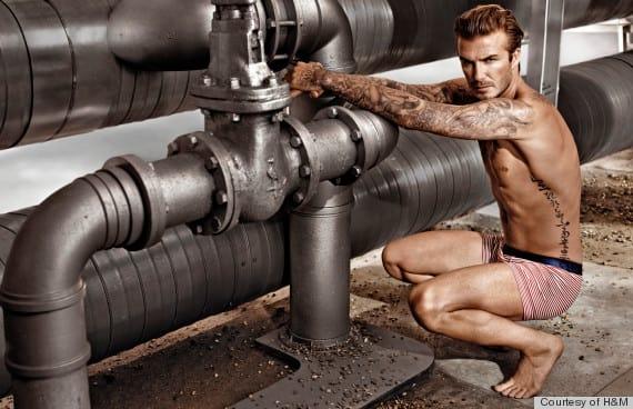 David Beckham Underwear Photograph