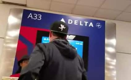 Vanilla Ice Gets Heated, Melts Down at Delta Terminal