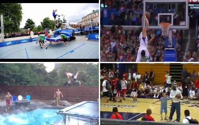 Amazing trick dunk
