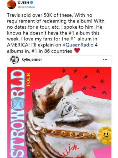 Nicki Minaj Tweet about Travis Scott 02