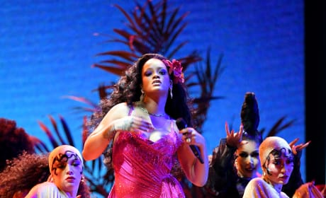 Rihanna Performs at Grammys