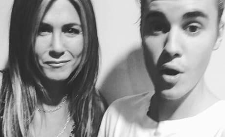 Jennifer Aniston and Justin Bieber