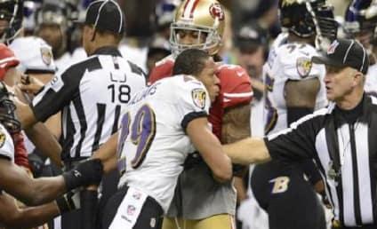 Ravens' Cary Williams Shoves Ref in Super Bowl Melee