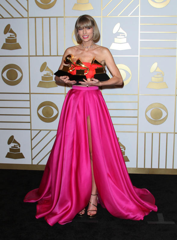 Taylor Swift: 58th GRAMMY Awards Press Room