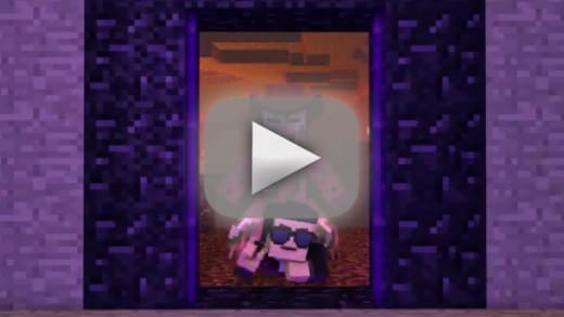 minecraft style like gangnam style only with blocks the