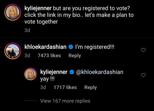 Kylie Jenner IG voting promo 2020