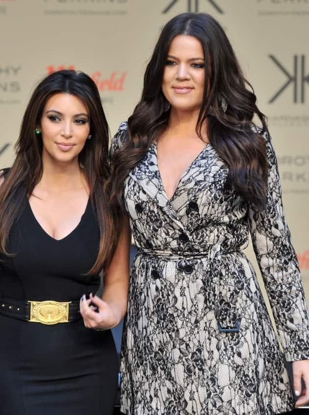 Kim Kardashian and Khloe Kardashian Photo