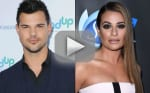 Lea Michele Talks to Taylor Lautner