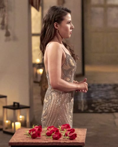 Katie Thurston at a Rose Ceremony