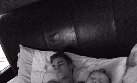 Justin Bieber in Bed