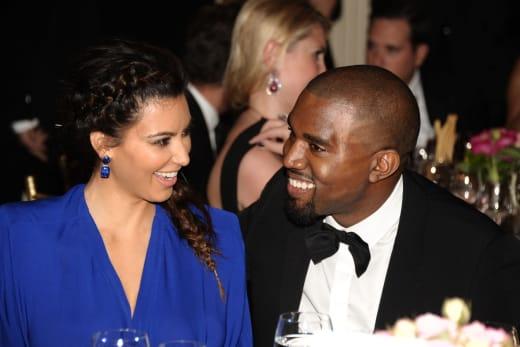 Kim and Kanye at Dinner