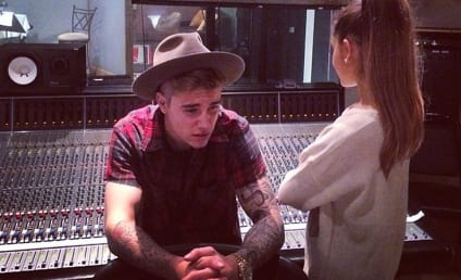 Justin Bieber Poses in Studio with Ariana Grande, Teases Duet