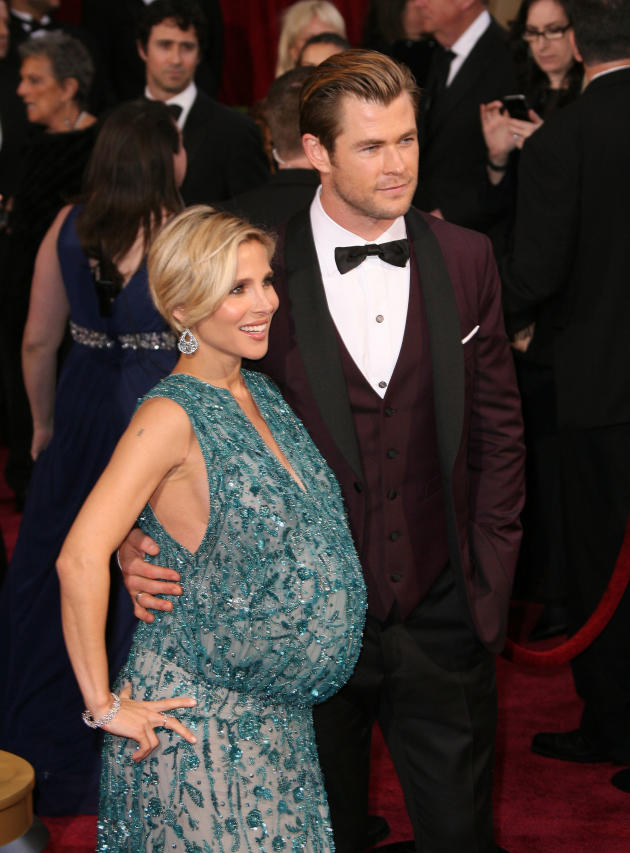 Elsa Pataky and Chris Hemsworth Oscars Photo