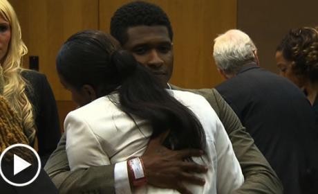 Usher Enters Courtroom
