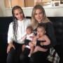 Kim Kardashian, Khloe Kardashian, True Thompson, and Chicago West