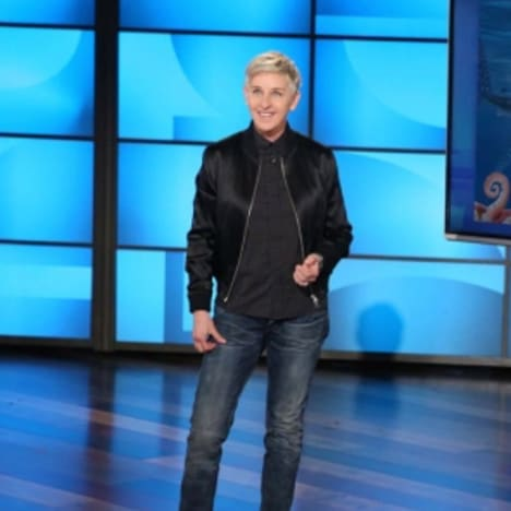 Ellen DeGeneres on Her Set