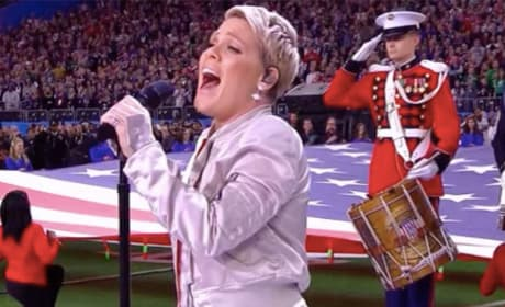 Pink Sings National Anthem: Grade It!