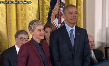 Ellen DeGeneres Breaks Down Upon Receiving Presidential Medal of Freedom