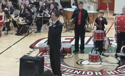 Student Breaks Cymbals, Recovers with Star-Spangled Banner Salute