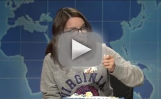 Tina Fey Slams Donald Trump on Weekend Update, Eats a Lot of Cake