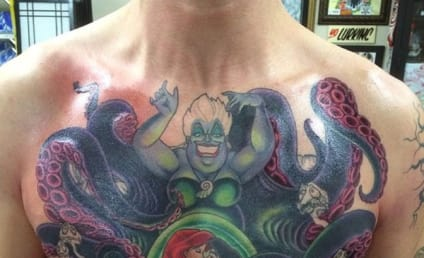 Man Gets Epic Little Mermaid Tattoo on Chest: You Have to See This!