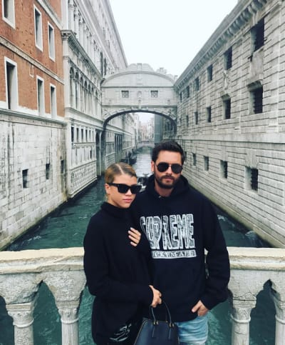 Sofia Richie and Scott Disick in Venice