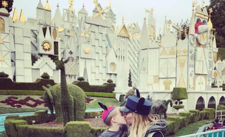 Hilary Duff Kissing Son