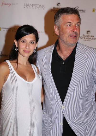 Hilaria Thomas with Alec Baldwin