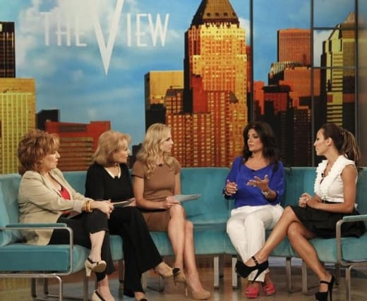 Melissa Gorga and Kathy Wakile on The View