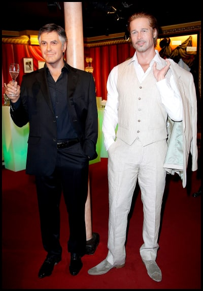 Brad Pitt and George Clooney Wax Figures