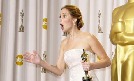 Jennifer Lawrence Reacts