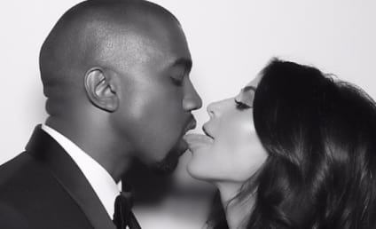 Kim Kardashian French Kisses Kanye, Celebrates Anniversary