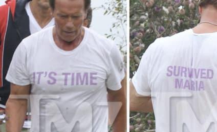 Arnold Schwarzenegger: Dissing Maria Shriver Hard With T-Shirt?