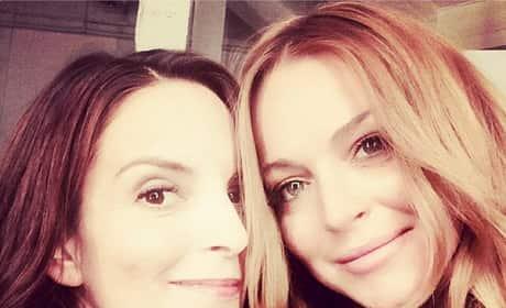 Tina Fey and Lindsay Lohan Selfie