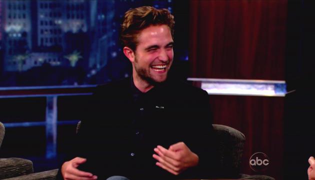 Robert Pattinson Cracks Up